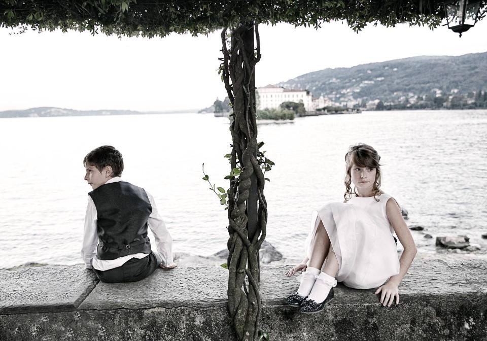 bambini al matrimonio sul lago maggiore