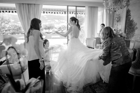 preparazione sposa abito Vera Wang