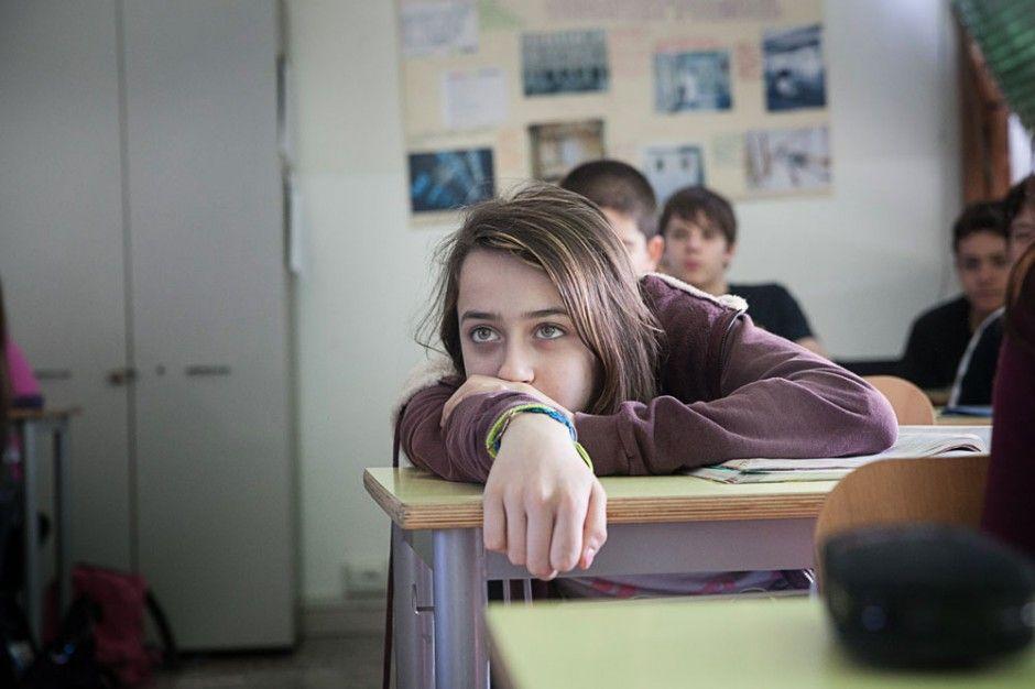 aula scuola media studentessa reggio emilia workshop fotografico donald weber