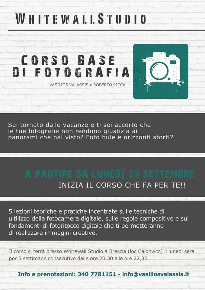 Corso di fotografia base a Brescia, whitewall studio, roberto ricca, vasilios valassis