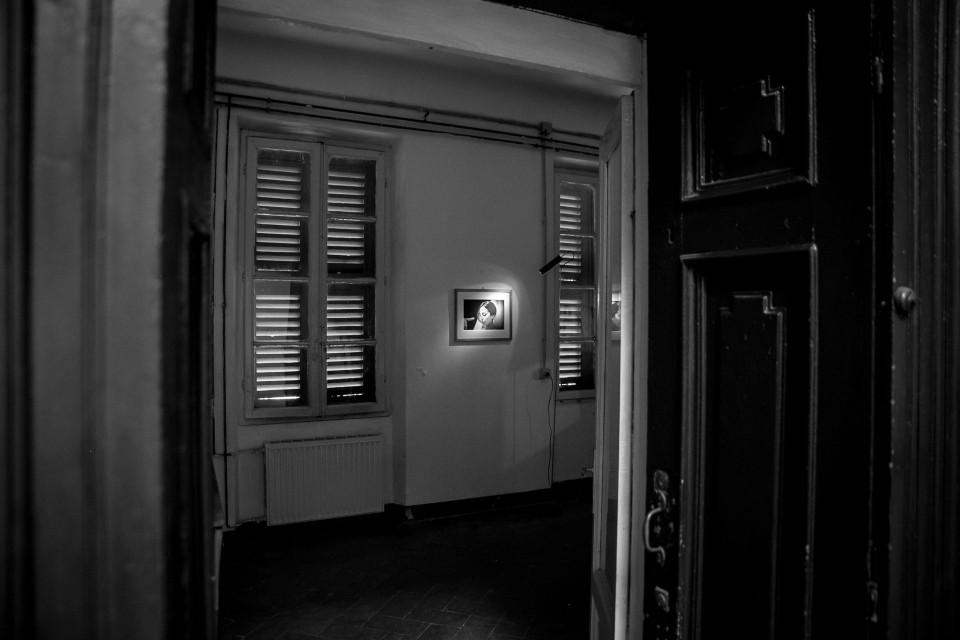 Una sala interna della Mostra Il Tempo nel Mezzo
