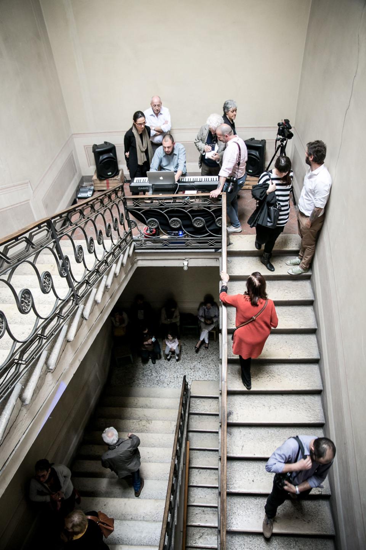 scalinata, palazzo, brescia, mostra, il tempo nel mezzo