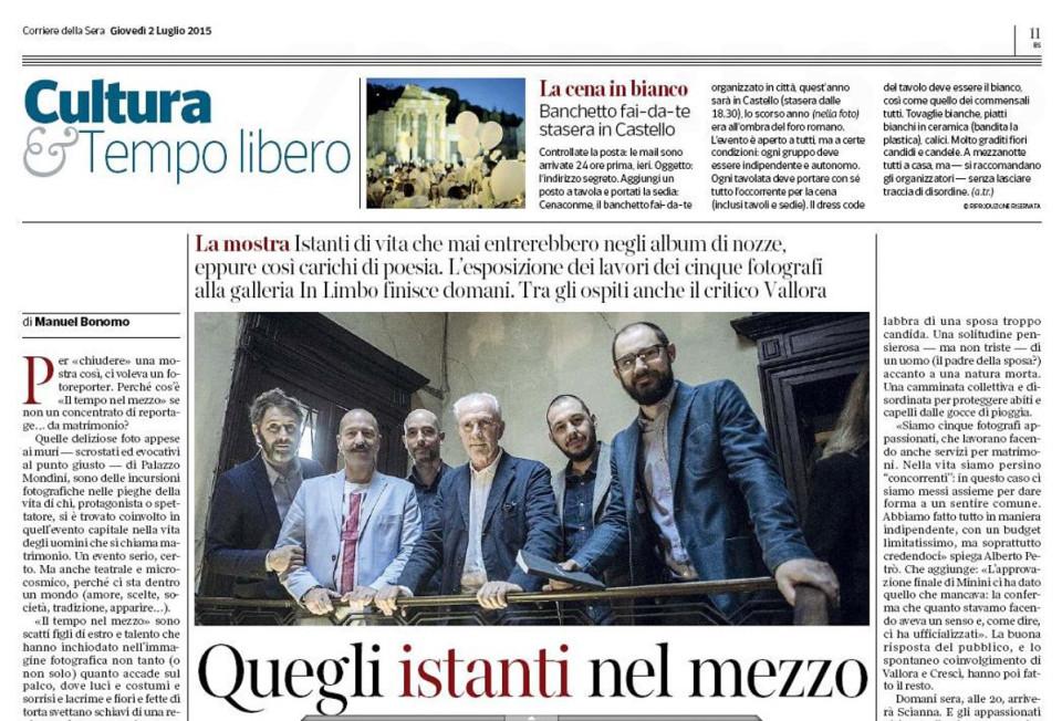 Prima parte dell'articolo del Corriere della Sera - Brescia