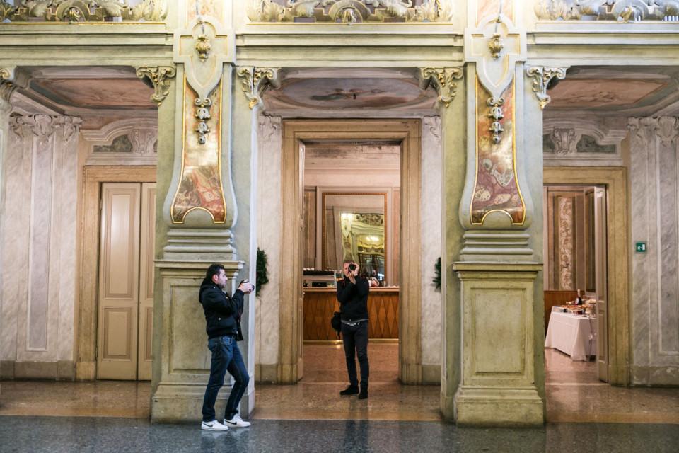 Foyer del teatro Grande durante il corso