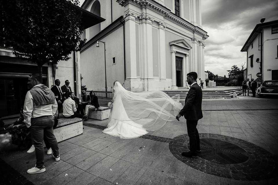 Il velo della sposa e il testimone