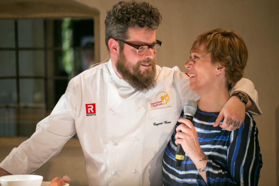Paola Castellani tempo di Eventi e lo chef Eugenio Boer