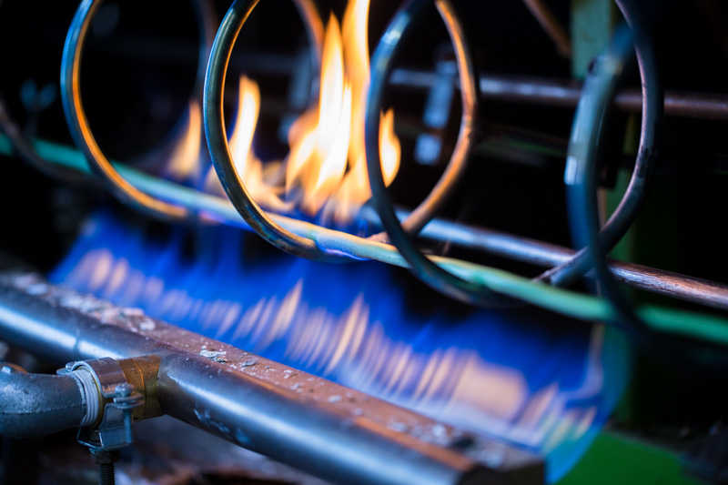 test fuoco fiamma cavo