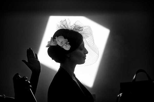 Preparazioen sposa silhouette bianco e nero