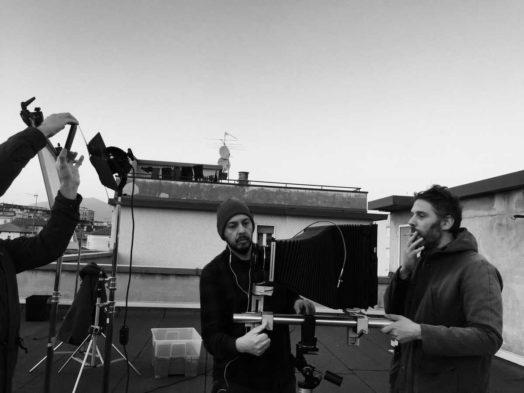 Andrea e Alberto durante uno shooting preparatorio dei 6 ritratti