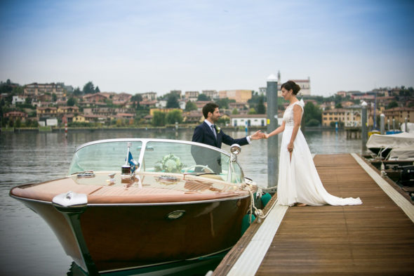 Riva Aquarama al porto di Sarnico in darsena sul lago d'Iseo