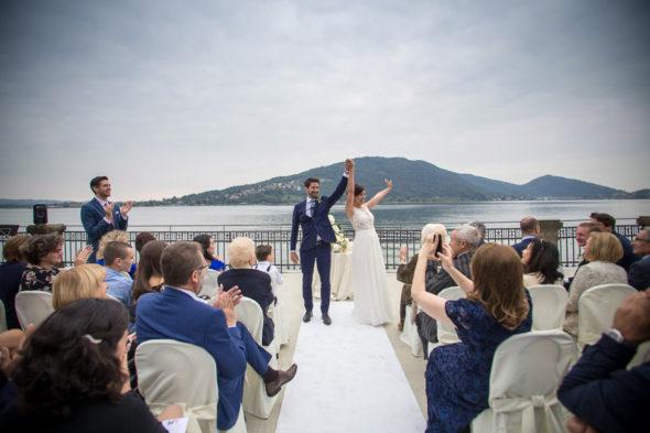 uscita sposi matrimonio Villa Surre