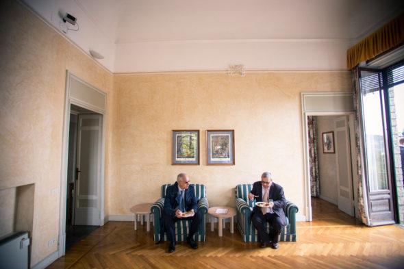 interno di Villa Surre a Sarnico