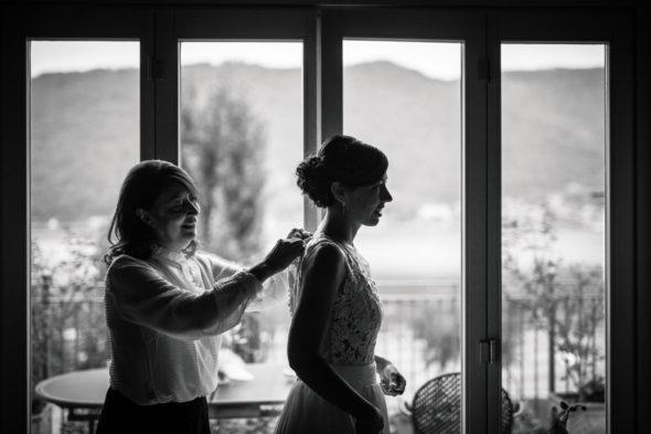 preparazione e abito da sposa