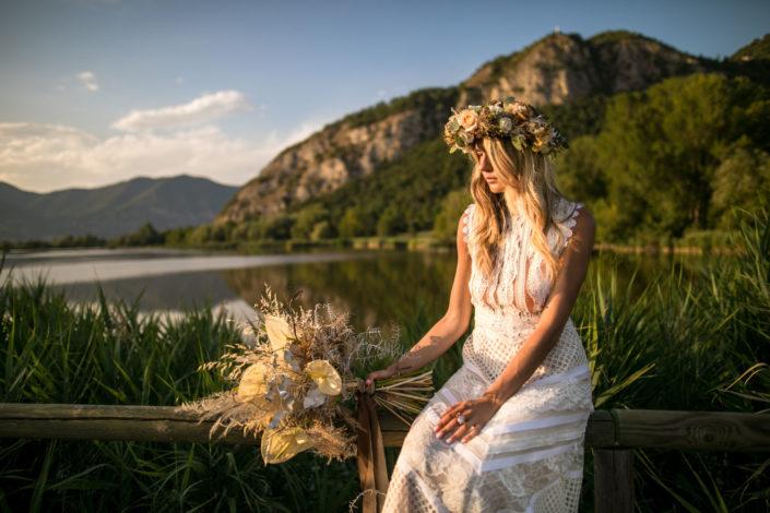 fotografo brescia shooting matrimonio con modella