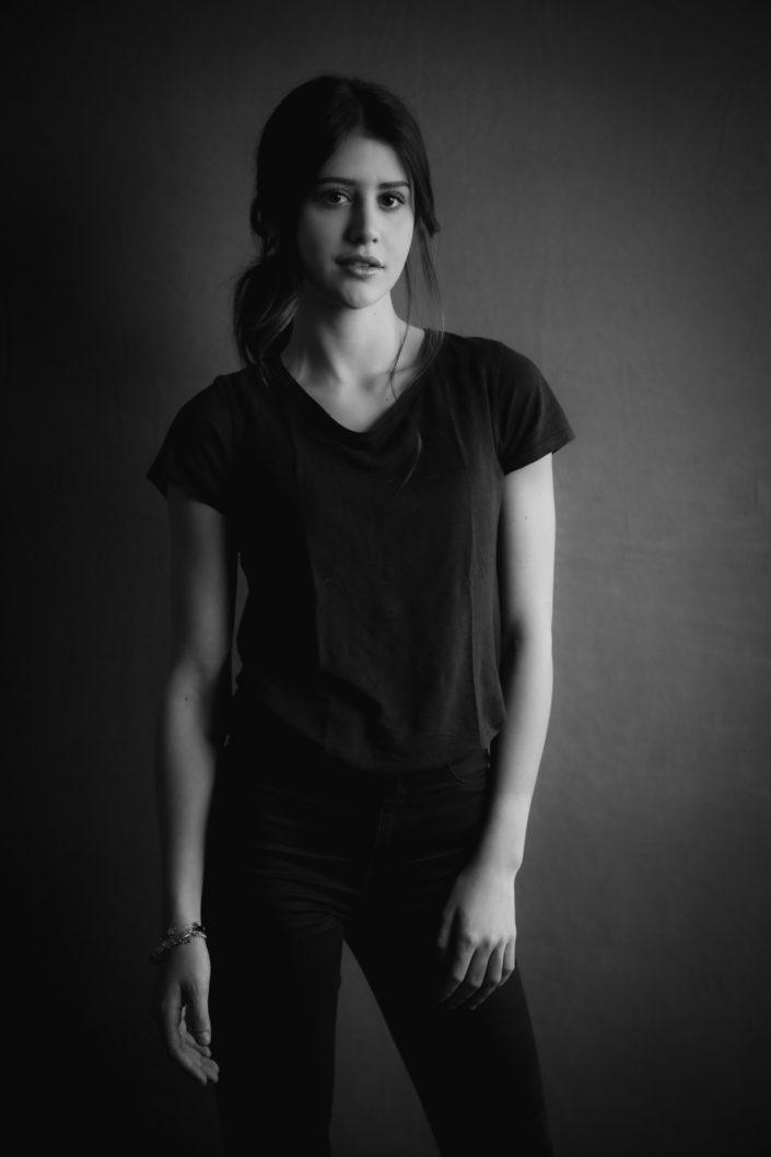 book in bianco e nero fotografico per modella e attrice a Brescia