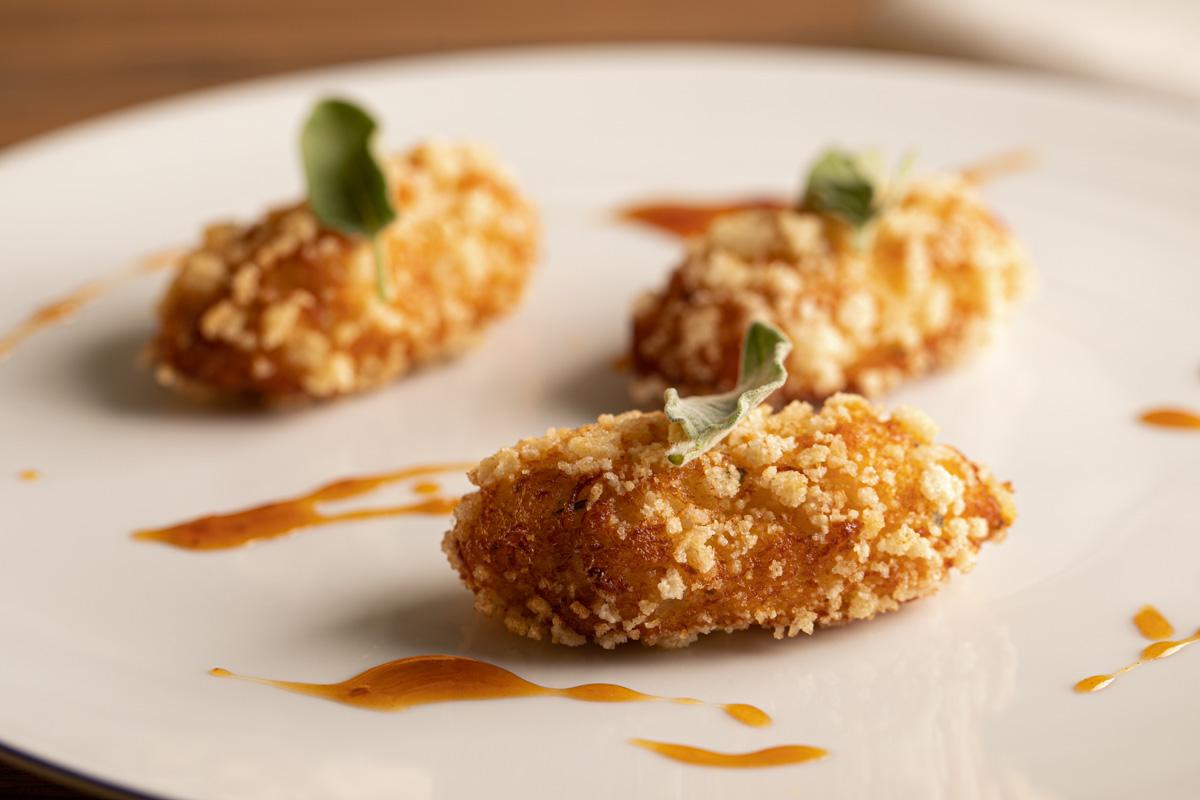 crocchette baccalà servizio fotografico per ristorante Brescia