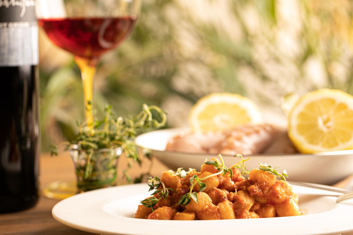 piatto gnocchi servizio fotografico per ristorante Brescia
